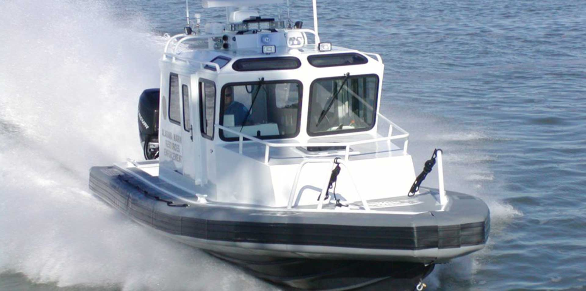 Silver Ships Ambar Series AM 1000 patrol boat with full pilothouse