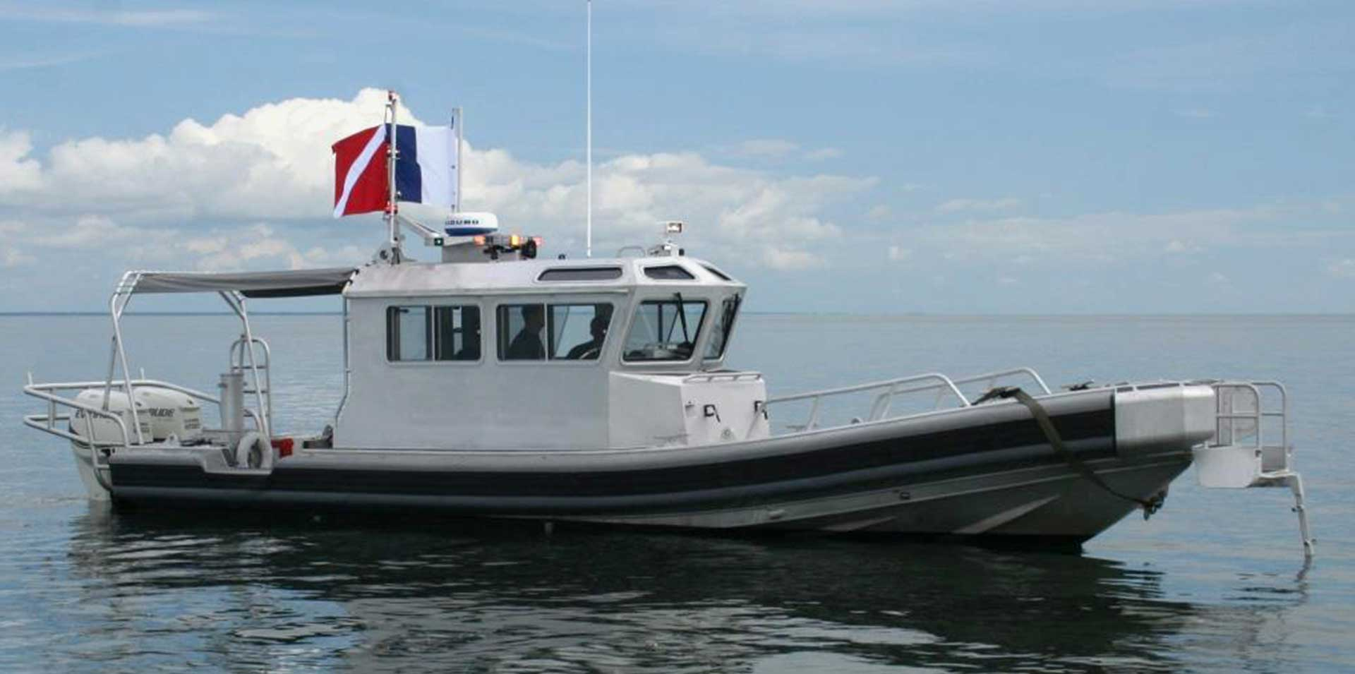 Silver Ships Ambar Series AM 1100 patrol vessel with full pilothouse