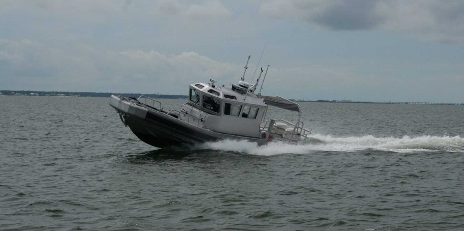 Silver Ships Ambar Series AM 1100 patrol boat with full pilothouse