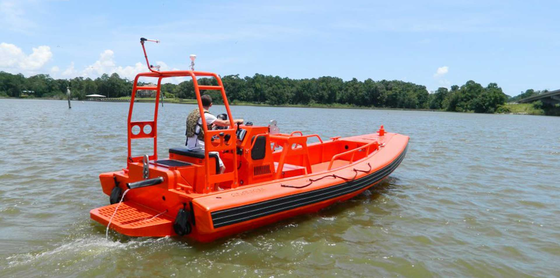 Silver Ships Ambar Series AM 700 small RHIB open pilothouse