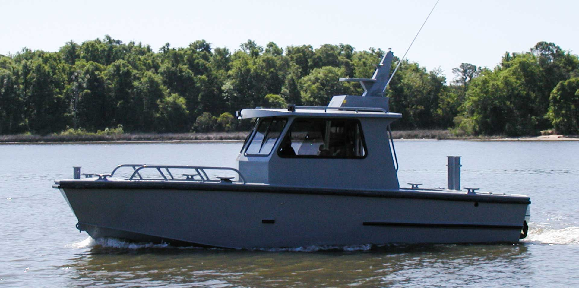 Silver Ships Endeavor Series workboat with full pilothouse