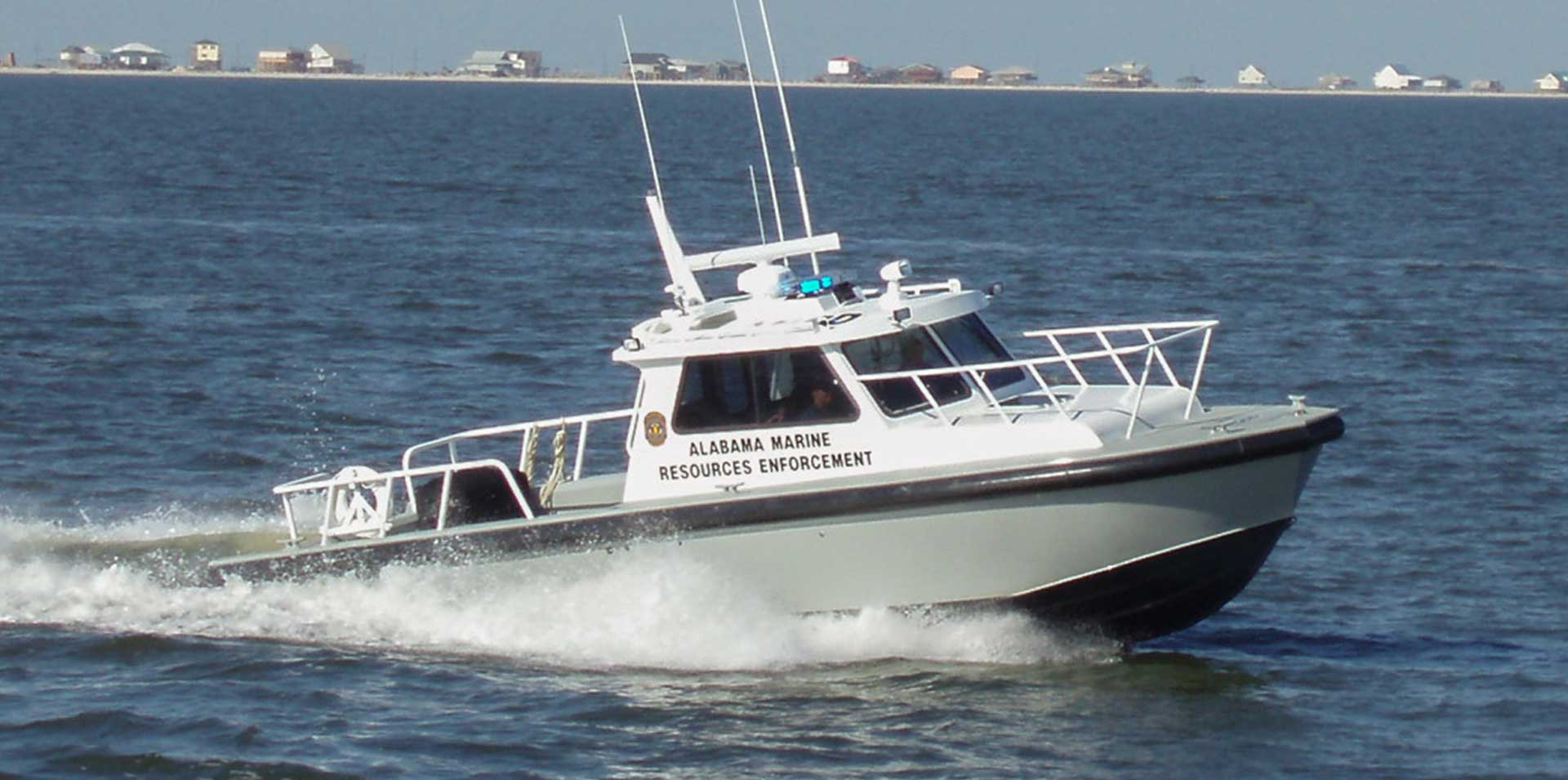Silver Ships Endeavor Series patrol boat on the water