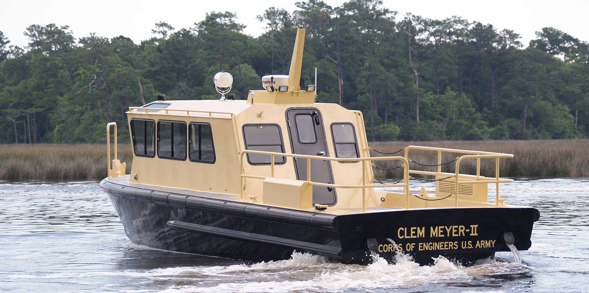 Silver Ships Endeavor Series survey boat for Army Corps of Engineers