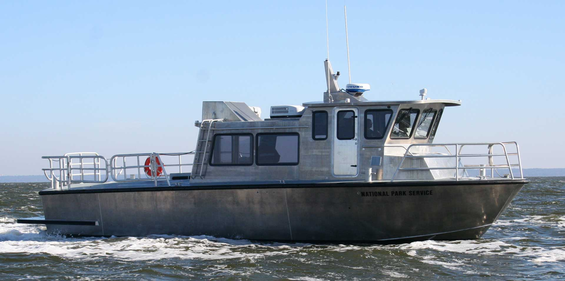 Silver Ships Endeavor Series large aluminum workboat for National park Rescue