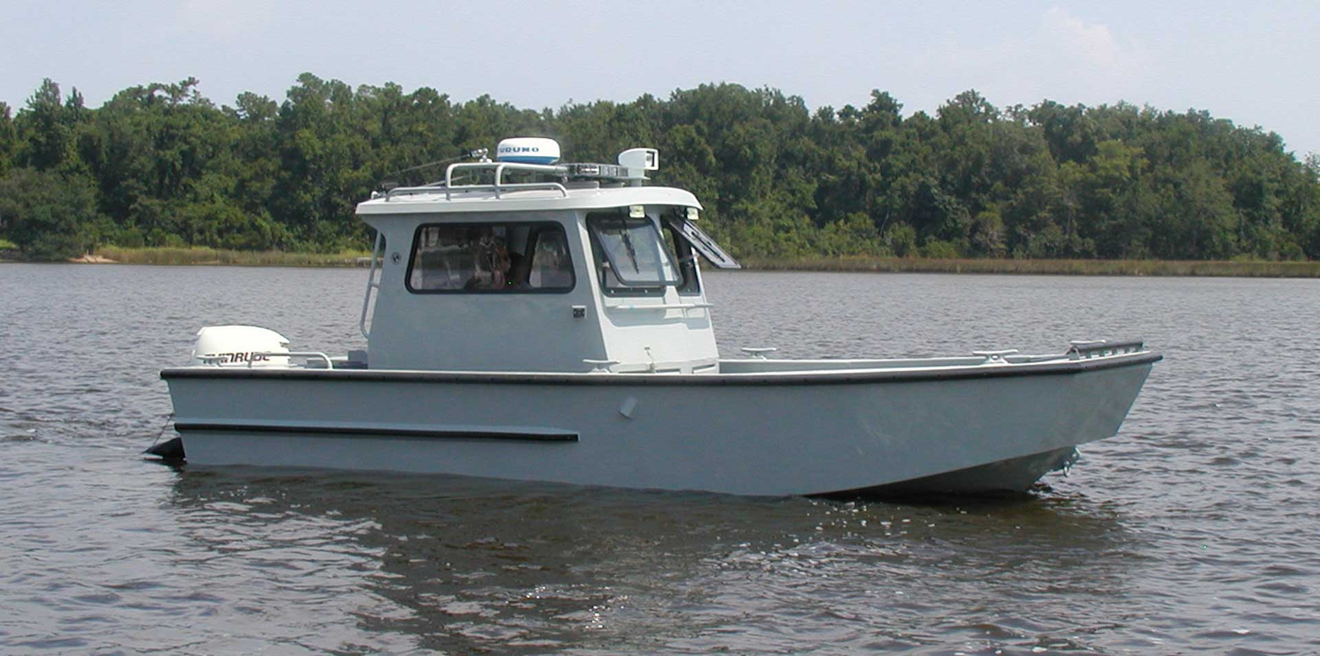 Silver Ships Explorer Series full pilothouse patrol boat