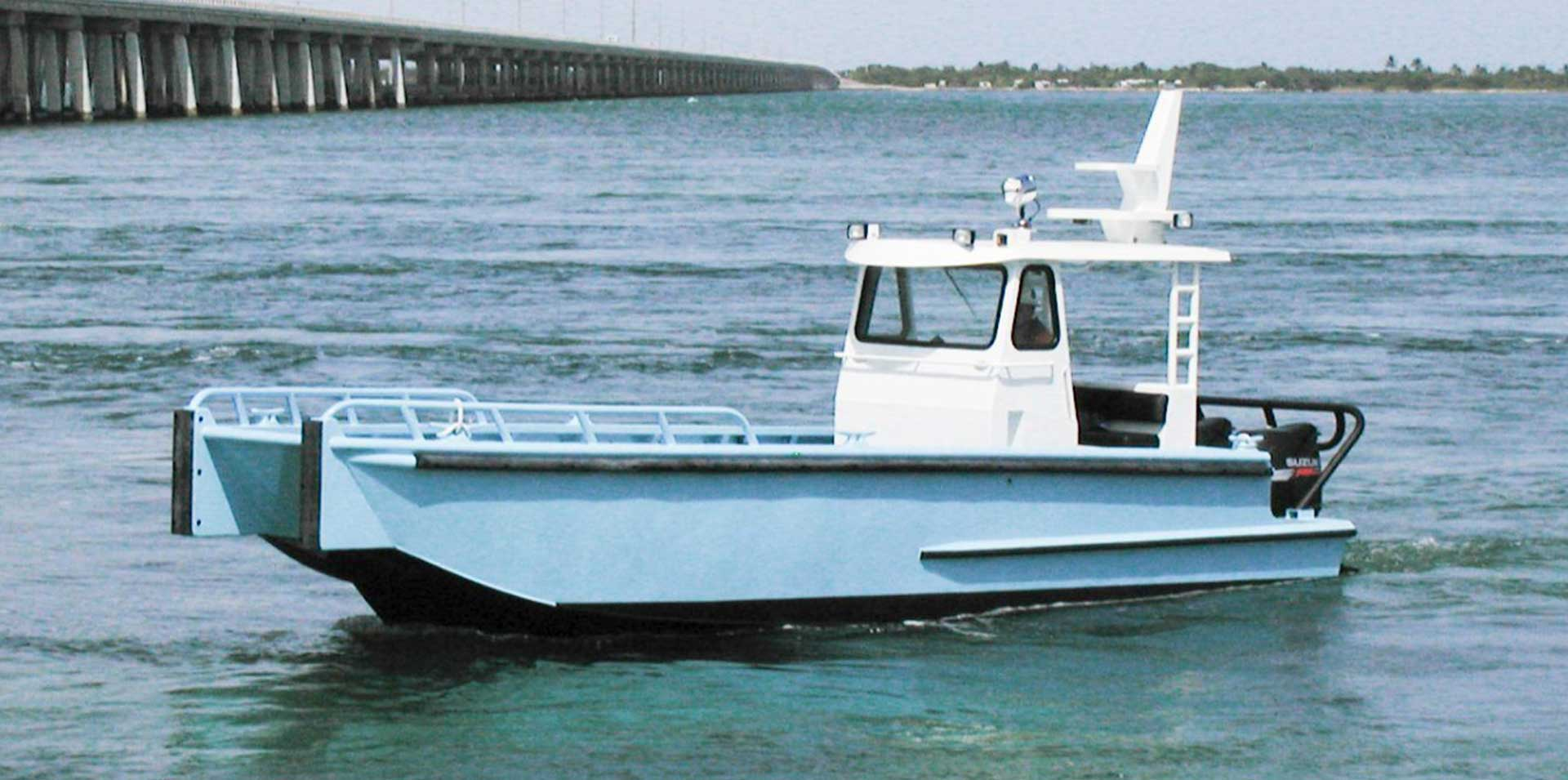 Silver Ships Explorer Series boat with pilothouse