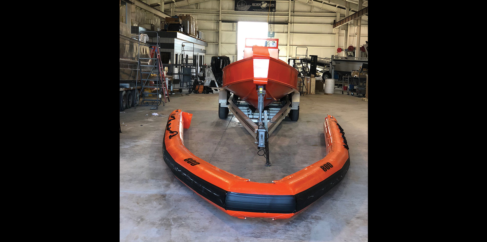 RHIB inflatable collar before added to Ambar boat