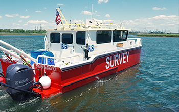 Silver Ships refurbished red and white survey boat