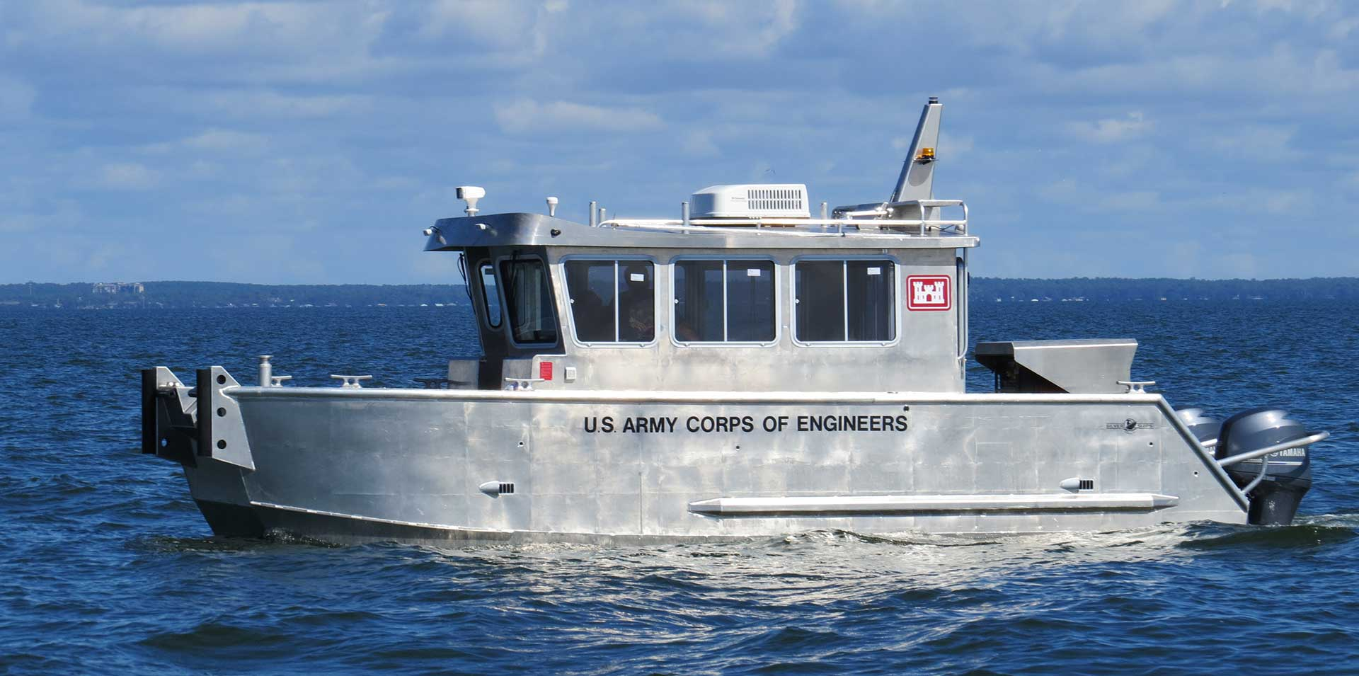 Silver Ships U.S. Army Corps of Engineers survey boat
