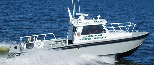 Alabama Marine Resources Enforcement aluminum boat