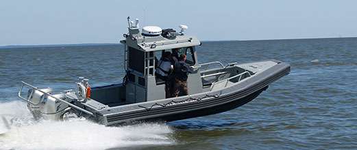 Law enforcement Ambar Series aluminum boat