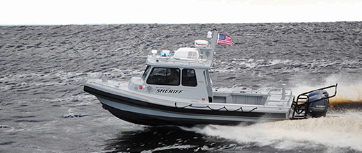 Law enforcement Freedom Series aluminum boat