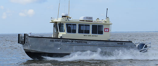 U.S. Army Corps of Engineers New York aluminum survey boat
